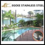 Broche en verre d'acier inoxydable pour le balcon
