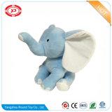 수를 놓은 엄청나게 큰 옅은 푸른색 코끼리 연약한 견면 벨벳 장난감