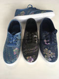 Obere Drucken-Blumen-Segeltuch Belüftung-Frauen und Mann-beiläufige Schuhe