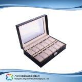 Caja de embalaje de madera/del papel de lujo de la visualización para el regalo de la joyería del reloj (xc-dB-017)