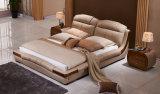 Neuer eleganter Entwurfs-modernes echtes Leder-Bett (HC901) für Schlafzimmer