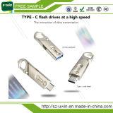 Tipo-c USB 8GB das amostras livres da movimentação do flash com logotipo da alfândega
