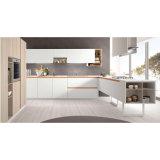Modernes ues-förmig Lack-Melamin-hölzerne modulare Küche-Schränke