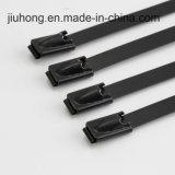 Fabrik in China-Fertigung Belüftung-überzogenen Kugel-Verschluss-Edelstahl-Kabelbindern