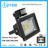 動きセンサーLEDの照明のPIR 10-50Wのフラッドライトが付いている20W LEDの洪水ライト