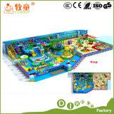 Rollen-Spiel-Haus-Innenspielplatz-spielt Plastikplättchen-Fiberglas Regenbogen-Netz