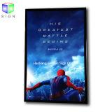 27 x 40 인치 영화 포스터 Backlit Adertising 까만 알루미늄 프레임 LED 가벼운 상자 전시