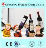 Il viaggio al supporto di bottiglia ad ovest del vino della resina di disegno di carattere