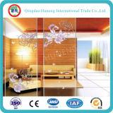 Vidrio de modelo teñido del vidrio helado del vidrio atado con alambre