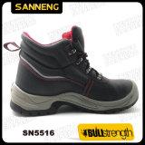 Черным кожаный обувь аттестованная Ce безопасности Sn5516