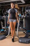 女性の堅いトラックスーツのトレーニングの動揺の連続した水泳の体操のスポーツ・ウェア