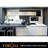 Мебель кухни лоска 2 PAC белая с верхней частью стенда гранита (AP103)