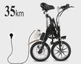 Bicicleta eléctrica de la mini ciudad plegable con la batería de litio