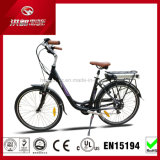 250W 26inch City Woman Electric Pedal Bicicleta LED Display Electric Bike En15194 Bateria de lítio E-Bike Disk Brake