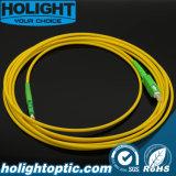 E2000A Sx Sm 3.0mm 황색에 광섬유 Patchcord Sca