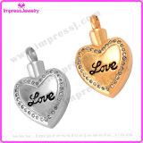 Pendenti Polished del cuore di amore della collana commemorativa