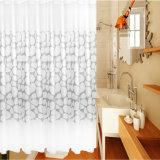 Cortina de chuveiro impermeável impressa nova do banheiro do Anti-Mildew PEVA (12S0037)