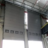 Автоматическая секционная надземная вертикальная сползая дверь гаража