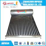 Chaufferette solaire tubulaire compacte de caloduc de pression