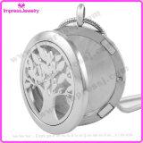 Locket essenziale del profumo della collana del diffusore di Oli dell'albero dei monili di Aromatherapy
