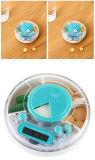 3 compartimentos digital cuadro de píldoras con temporizador de alarma
