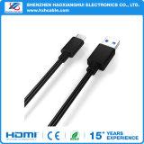 Positivo de Suport. Tipo negativo cable de la pieza inserta USB3.1 de C
