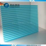 Het blauwgroene Holle Plastic Blad van Bayer Policarbonato
