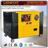 300A 10kwの溶接の生成はブラシまたはブラシレス交流発電機が付いている機械を二重使用する