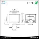 BILDSCHIRM-Note Positions-Terminal des Kassierer-Register-15 des Zoll-TFT LCD Doppel