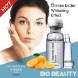 El suero antienvejecedor ácido L-Ascórbico de la piel del ácido hialurónico de Yiman que blanquea hace piel la feria blanda