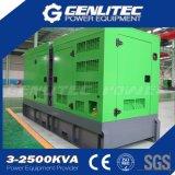 Зеленый цвет заставил замолчать комплект генератора Cummins 250kVA тепловозный