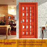 Modèles en bois de porte de chambre à coucher de noix solide de modèle de nouveauté (GSP2-034)