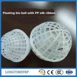 Media de filtro suspendidos del acolchado de la bola para el tratamiento de aguas residuales
