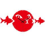 Оптовые часы стены рыб для домашнего украшения