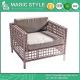 Sofà stabilito di svago del sofà della fasciatura con la mobilia esterna di tessitura di tessitura del giardino della mobilia della mobilia della striscia stabilita del sofà del nastro dell'ammortizzatore
