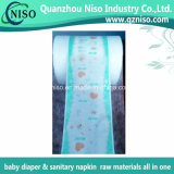 Full Laminated PE Film Backsheet Materias primas no tejidas para el pañal del bebé