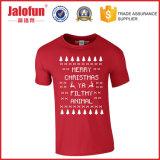 T-shirt fait sur commande de Noël avec l'impression mélangée d'écran en soie de taille