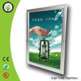 Alto capítulo de aluminio brillante de la foto del cartel Snap LED Caja de luz publicidad