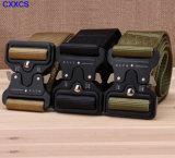 Armée tactique en nylon en tissu Ceintures stables avec alliage de zinc Cobra Buckle