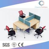 Poste de travail modulaire de couleur mélangée avec le bureau de 2 ordinateurs