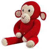 Het in het groot Stuk speelgoed van de Pluche van de Baby Zachte Dierlijke Bruine Aap Gevulde