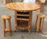 테이블과 벤치를 가진 나무로 되는 새로운 디자인 포도주 배럴 선반 미국