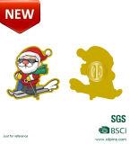 Regali di giorno di Natale dell'oro con il distintivo
