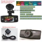 Enregistreur de caméra Dash de 2,7 pouces avec GPS Logger, Google Map Route de suivi GPS, rappel de limite de vitesse, détection de mouvement Car Black Box, Sony Digital Video Recorder