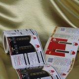 El color de la alta calidad imprimió la escritura de la etiqueta adhesiva de la etiqueta engomada del vinilo
