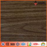 Панель популярной деревянной отделки алюминиевая составная поставленная Foshan Ideabond (AE-306)