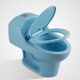 Armario de agua de una pieza clásico de Siphonic de la porcelana, azul claro