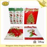 高級カスタム印刷されたカラークリスマスギフトショッピングバッグ