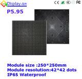 Panneau de coulage sous pression en aluminium de l'Afficheur LED P5.95 pour la location d'intérieur