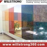 Revêtement composé en aluminium de mur de configuration de marbre de PVDF